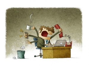 Hombre ocupado