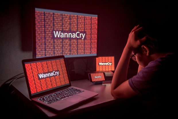 Ordenador infectado por virus WannaCry